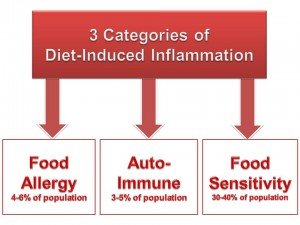 3 categories of diet induced inflammation that can lead to leaky guts.
