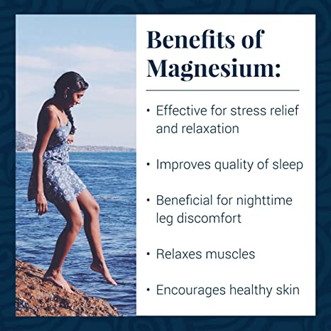 Benefits of Ancient Minerals Magnesium products - #1 for better sleep, improved skin, increased energy levels, healthy joints, provides inflammation and stress relief, and aides in muscle recovery and detox support.