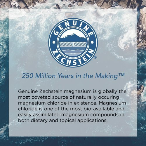 Ancient Minerals - genuine Zechstein magnesium for dietary and topical applications.