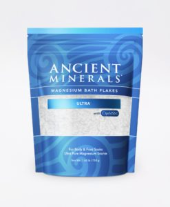 Ancient Minerals Magnesium Bath Flakes Ultra 1.65lb - for an immersive and relaxing full body or foot bath soak for effective detox support.