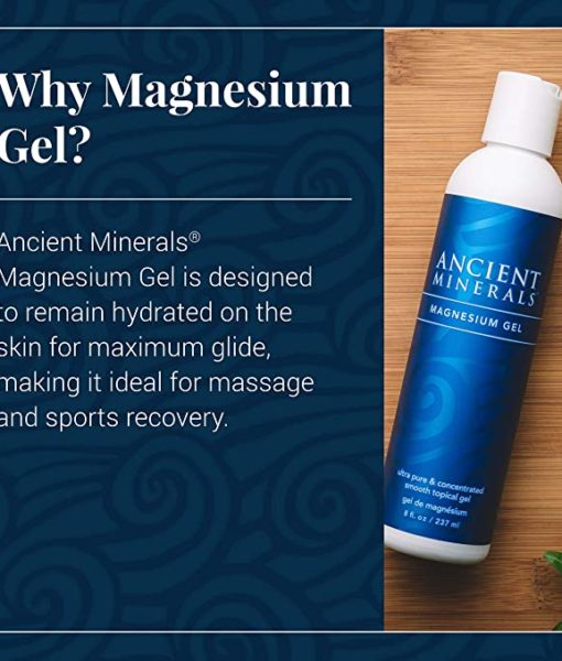 Ancient Minerals Magnesium Gel Original 8oz - #1 for healthy joints, supports healthy skin, provides inflammation and stress relief, and aides in muscle recovery and detox support.