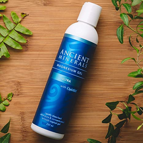 Ancient Minerals Magnesium Gel Ultra 8oz - #1 for healthy joints, supports healthy skin, provides inflammation and stress relief, and aides in muscle recovery and detox support.