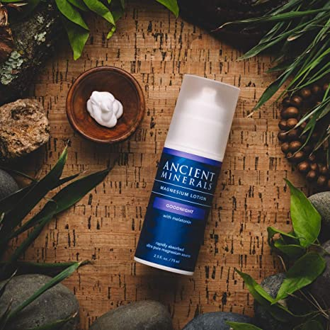 Ancient Minerals Magnesium Lotion Goodnight 2.5oz - #1 for better sleep, improved skin, increased energy levels, healthy joints, provides inflammation and stress relief, and aides in muscle recovery and detox support.