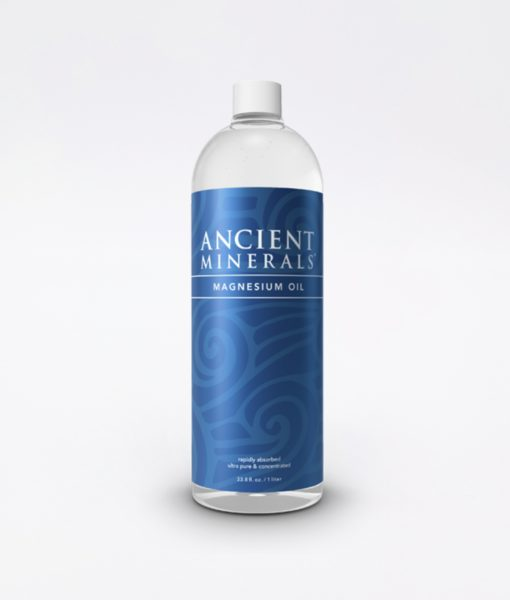 Ancient Minerals Magnesium Oil Original 33oz - #1 for better sleep, improved skin, increased energy levels, healthy joints, provides inflammation and stress relief, and aides in muscle recovery and detox support.