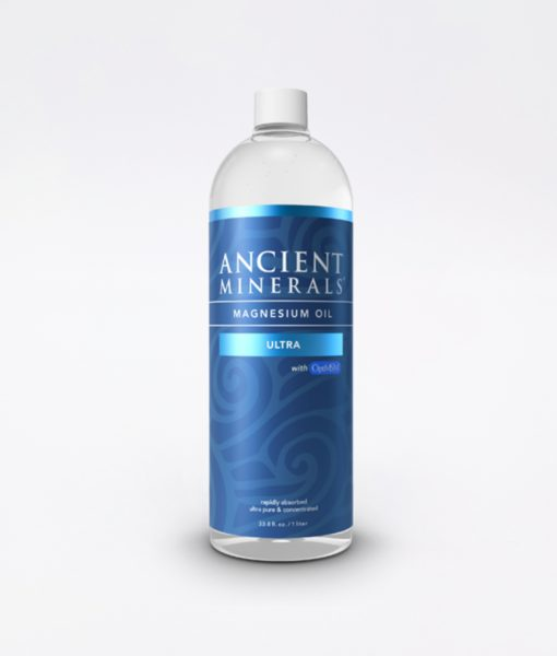 Ancient Minerals Magnesium Oil Ultra 33oz - #1 for better sleep, improved skin, increased energy levels, healthy joints, provides inflammation and stress relief, and aides in muscle recovery and detox support.