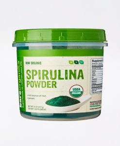 All natural BareOrganics Spirulina Powder - raise your energy, vitality and detox efficacy.