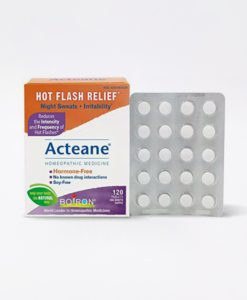 Boiron Acteane - homeopathic remedy to relieve hot flashes, night sweats and irritability associated with menopause.