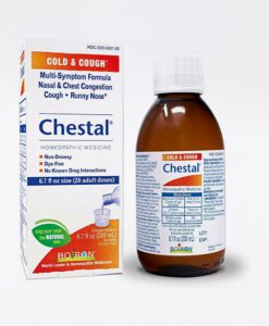 Boiron Chestal Cold & Cough - homeopathic remedy to relieve symptoms of the common cold such as nasal and chest congestion, fitful cough, sneezing, minor sore throat, and runny or stuffy nose.