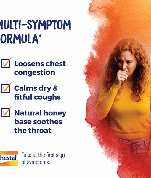 Boiron Chestal Honey Cough & Chest Congestion - homeopathic remedy to relieve dry cough due to minor throat and bronchial irritation as may occur with a cold.