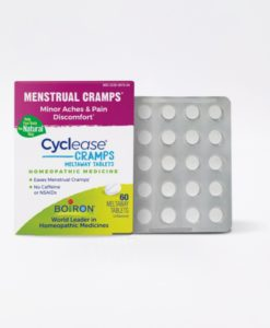 Boiron Cyclease Cramp - homeopathic remedy to relieve minor aches and pains associated with menstrual cramps.