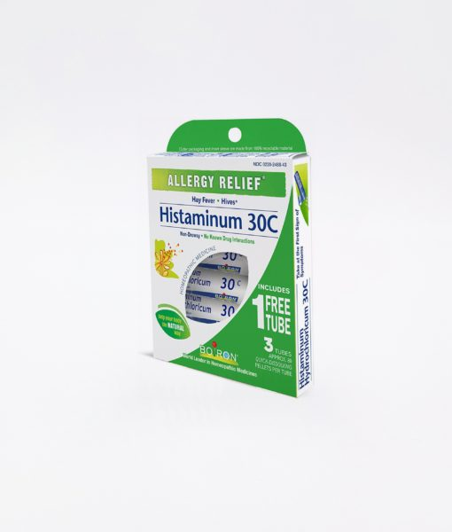 Boiron Histaminum - homeopathic remedy to relieve common allergy symptoms such as hay fever and hives.