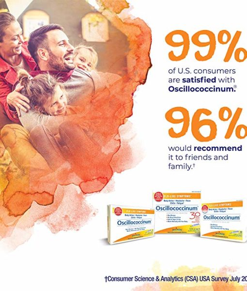 Boiron Oscillococcinum - homeopathic remedy to relieve cold/flu-like symptoms such as body aches, headache, fever, chills and fatigue.