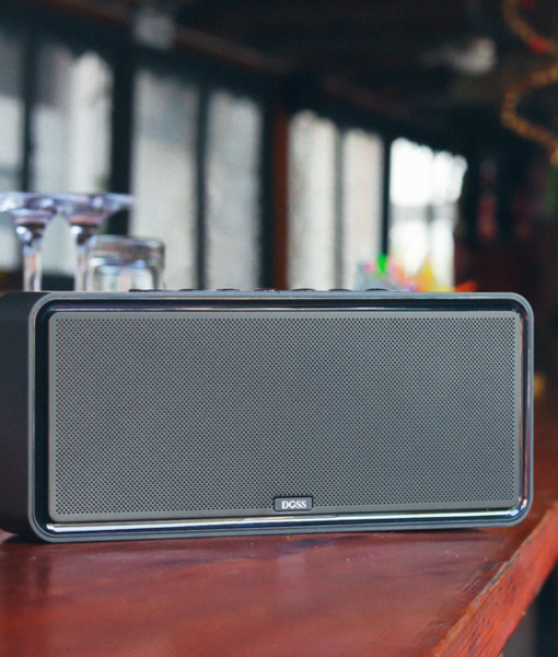 DOSS SoundBox XL 32W bluetooth speaker that is small enough to fit just about anywhere, with full, rich sound that belies its size.