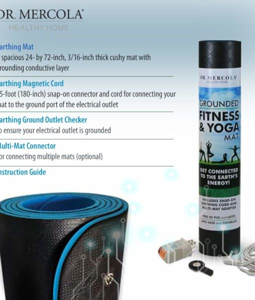 What is included with the Dr Mercola Grounded Fitness & Yoga Mat?