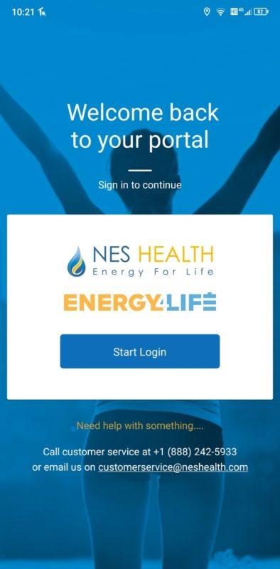NES Energy4Life application.