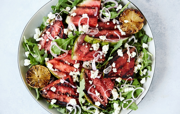 Herbed watermelon salad bioenergetic recipe.