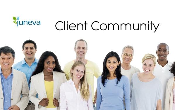 Juneva Health facebook client community.
