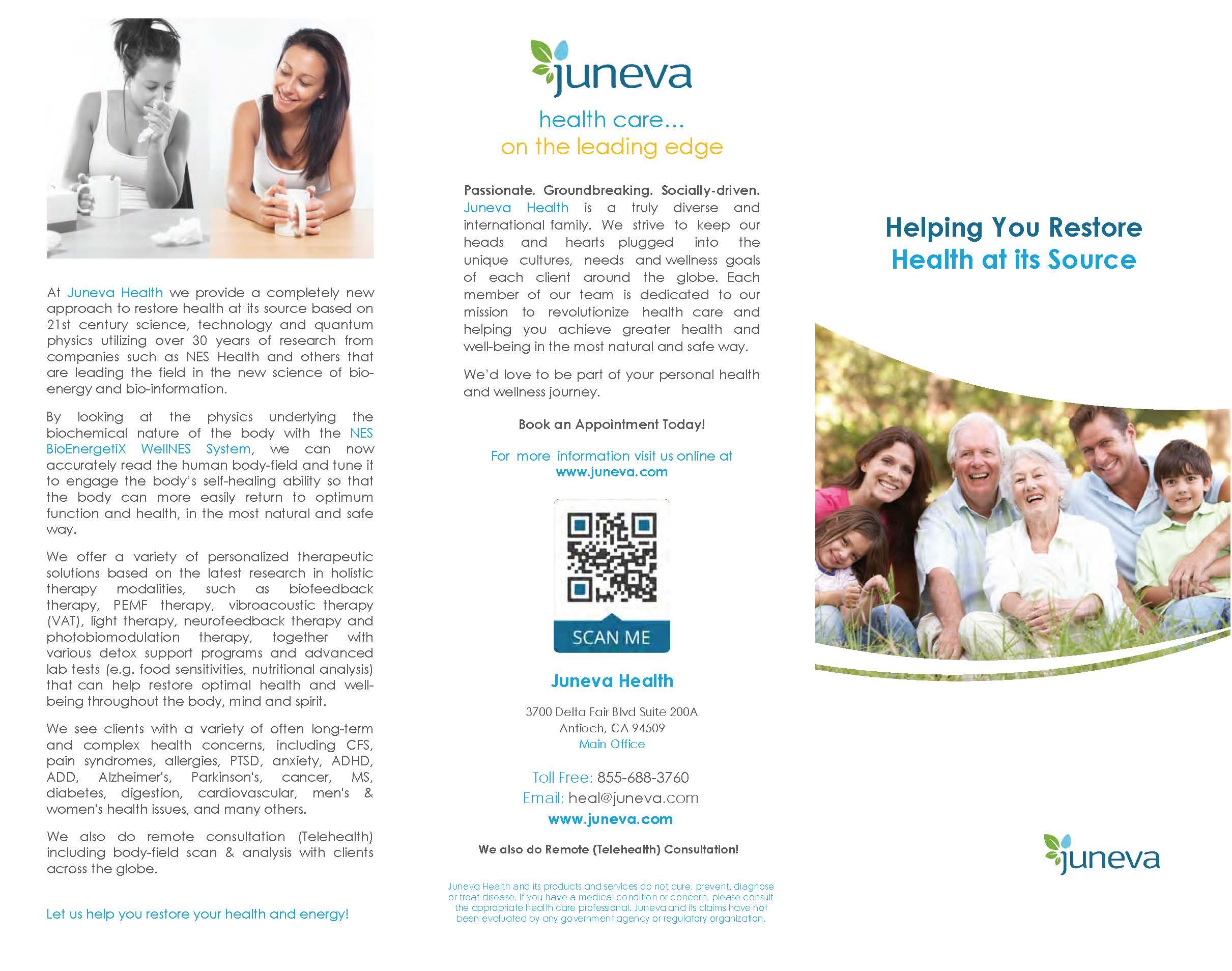 Juneva Health brochure.