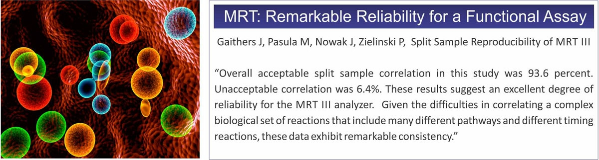 Mediator Release Test (MRT) delivers remarkable reliability to identify your food sensitivities.