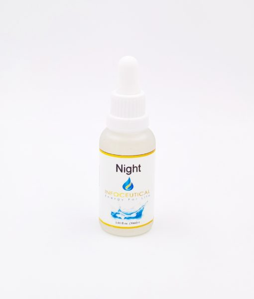 NES Night Infoceutical - bioenergetic remedy for naturally restoring healthy mind body patterns, by removing energy blockages and correcting information distortions in the body field.