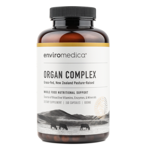 Enviromedica Pastured Organ Complex is a nutritional powerhouse playing a fundamental role in supporting all body systems, including healthy skin, eyes, metabolism, immune function, liver and mental health.
