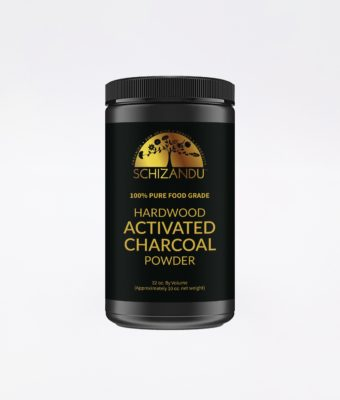 Schizandu Hardwood Activated Charcoal Powder for detox support, cleansing and gut health.