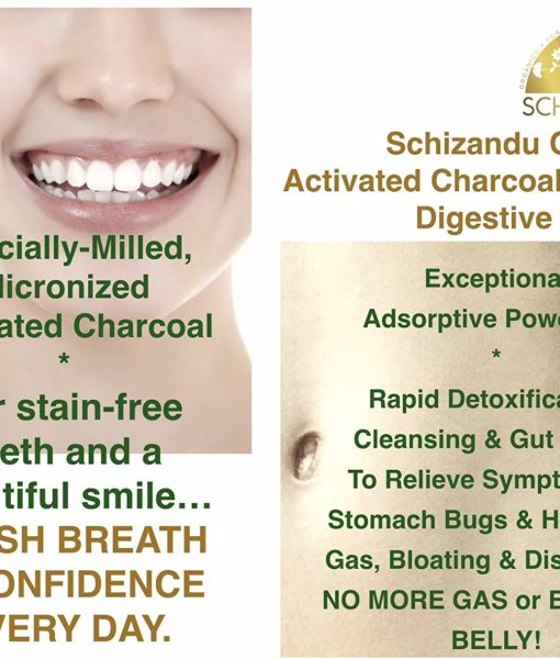 Detox, cleansing and gut health benefits of the Schizandu Hardwood Activated Charcoal Powder.