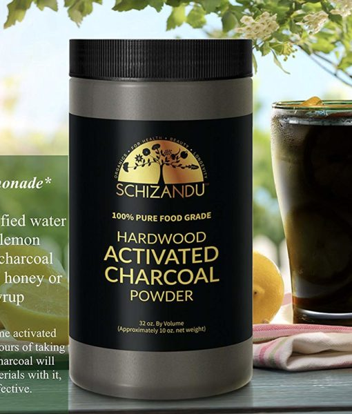 Black lemonade mix recipe using the Schizandu Hardwood Activated Charcoal Powder.