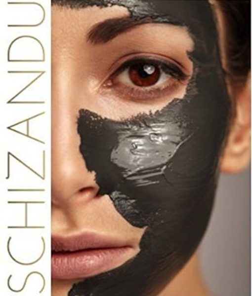 Facial mask with the Schizandu Hardwood Activated Charcoal Powder.