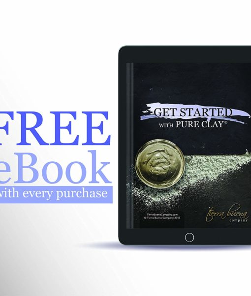 Free eBook offer for getting started with the #1 premium food grade edible Tierra Buena Pure Clay for effective detox support.