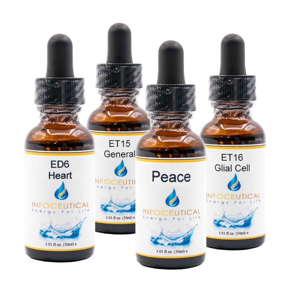 NES Infoceutical Set Emotional Immunity - bioenergetic remedies for naturally restoring healthy mind body patterns, by removing energy blockages and correcting information distortions in the body field.