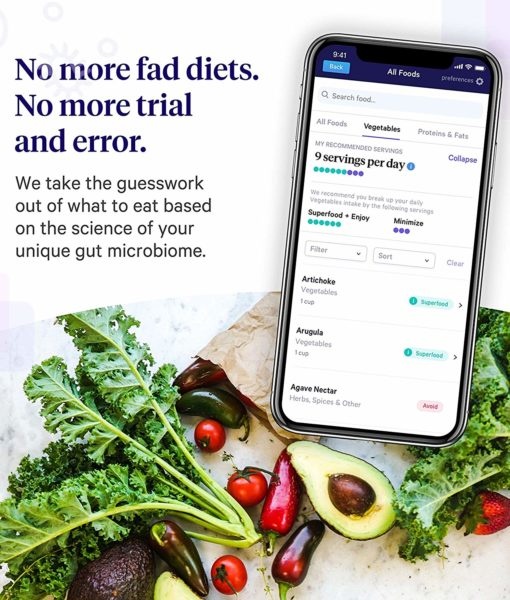 No more trial and error. Take the guesswork out of what to eat with the Viome Gut Intelligence Test. The most advanced, cutting-edge technology gut health (microbiome) analysis test with personalized recommendations for food or supplements to restore a healthy gut flora.