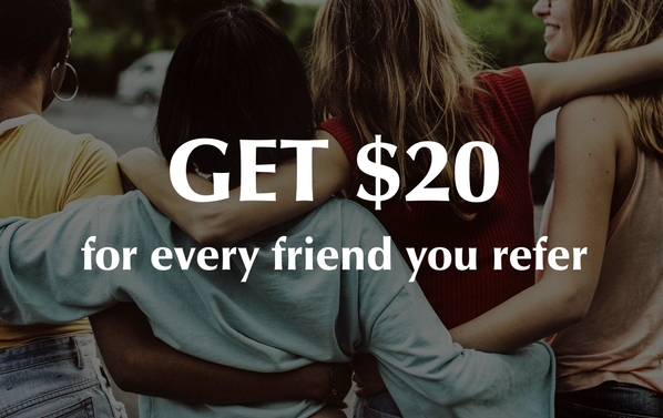Juneva Health referral program pays you $20 for every friend you refer.