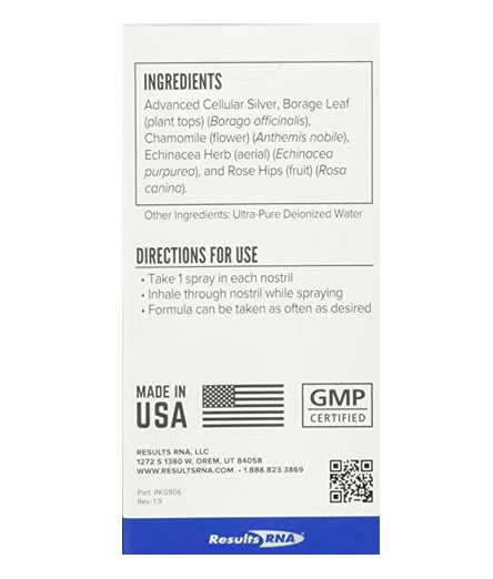 ACS 200 Extra Strength Nasal Spray - ingredients and directions for use.